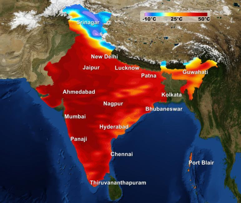 Weather Forecast India Map Weather forecast for the week in India 22nd  28th April | Skymet  Weather Forecast India Map