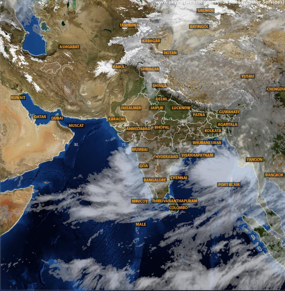 india weather map satellite Weather Forecast For The Week In Inda 16th To 22nd September india weather map satellite