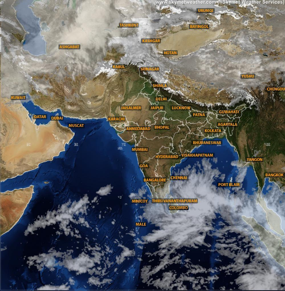 Chennai Weather Satellite Map Weather system in Bay of Bengal gaining strength | Skymet Weather  Chennai Weather Satellite Map