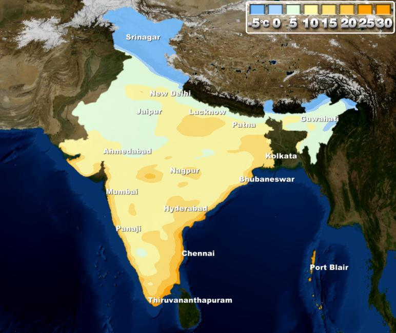 Weather Map Report.Weather Forecast For The Week In India From 23rd To 29th December