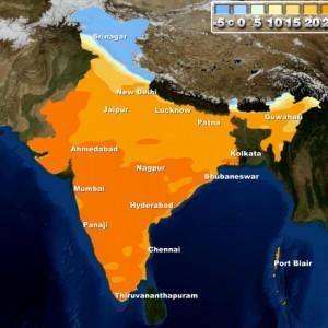 Day temperature in Delhi
