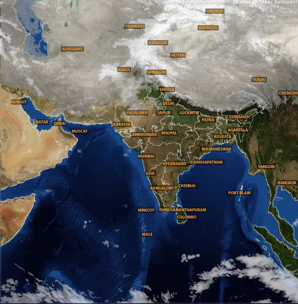 Satellite weather forecast of india