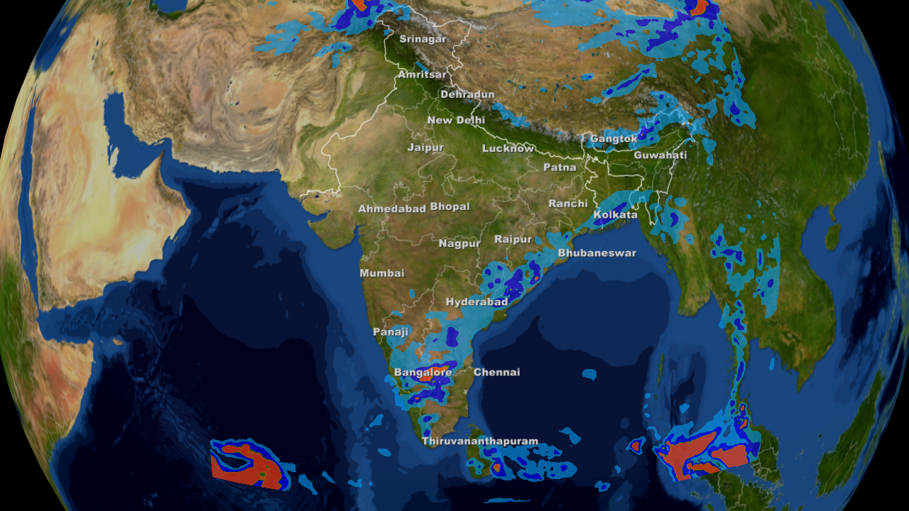 Weather Forecast India Map Weather forecast for the week in India from 7th to 13th April  Weather Forecast India Map