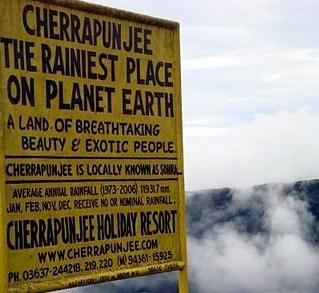average rainfall in cherrapunji
