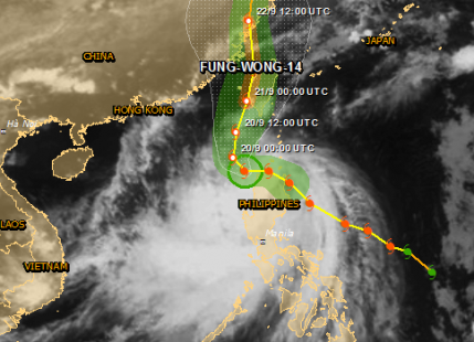 Tropical storm Fung-Wong