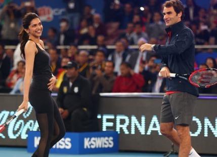Roger Federer Deepika Padukone IPTL