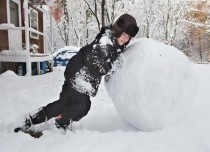 Snowfall In New Year USA