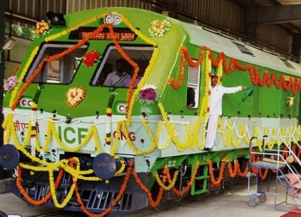 First CNG Train India