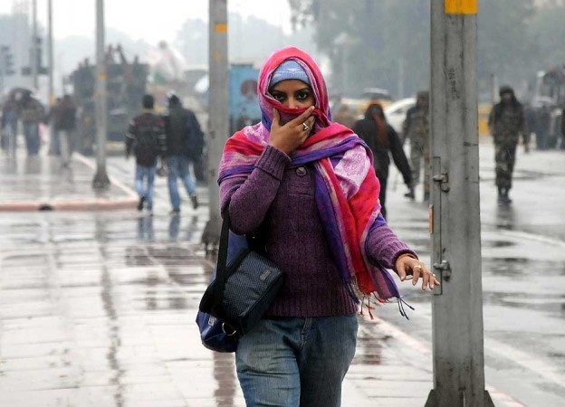 Winter rain in India