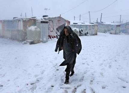 Snowfall in Middle East