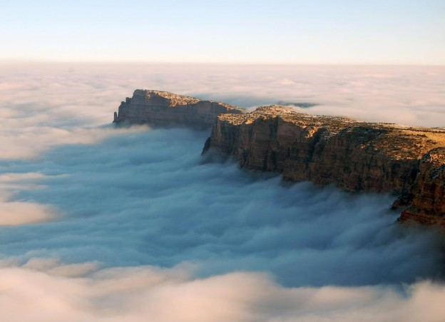 Grand Canyon covered with sea of clouds