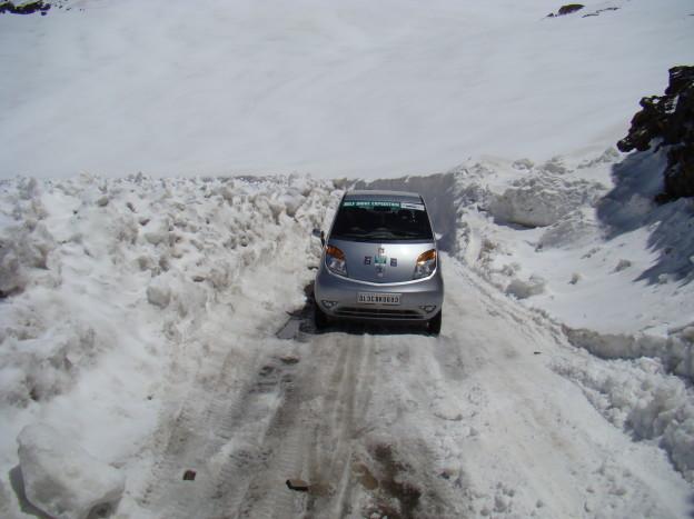 Driving on black ice