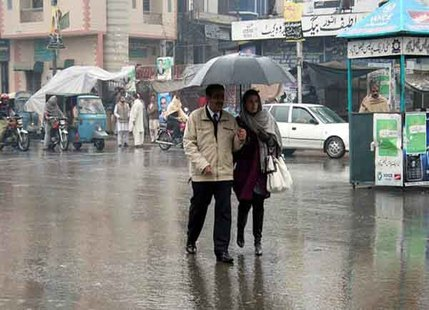 Rainfall in Pakistan