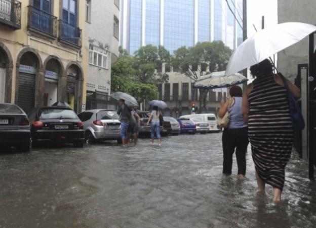 Heavy rain in Rio de Janerio