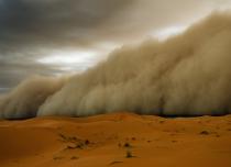 sandstorm in Middle East