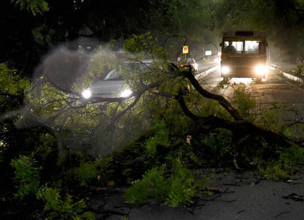 Hailstrom in Delhi