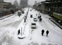 Srinagar snow