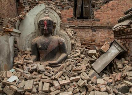 Pelted by Rain, Terrorized b y Aftershocks, Nepal Trapped under Nature's Fury