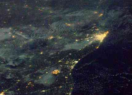 NASA Astronaut captures massive storm over India from space