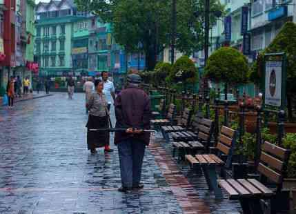 Rain in Gangtok