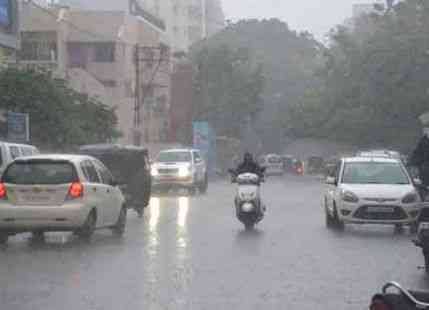 Rain in Rajkot