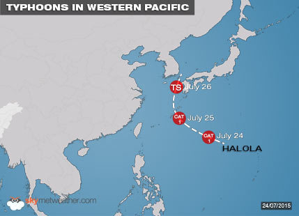 TYPHOONS IN WESTERN PACIFIC