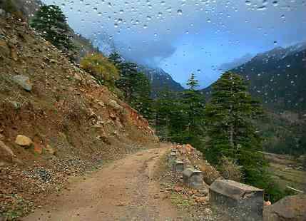 Rain In Hills Of North India