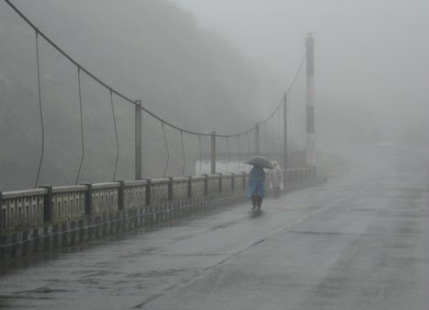Three digit rainfall recorded over Assam and Meghalaya