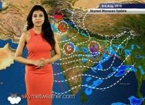 03 August, 2015 Monsoon Update: Skymet Weather