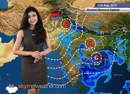 11 August, 2015 Monsoon Update: Skymet Weather
