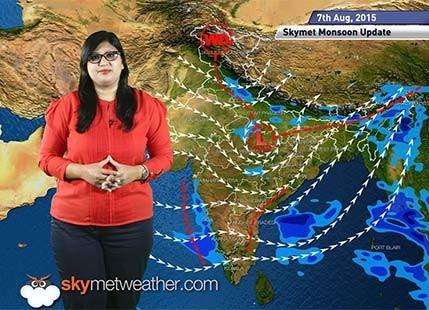 07 August, 2015 Monsoon Update: Skymet Weather
