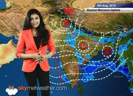 08 August, 2015 Monsoon Update: Skymet Weather