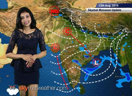 12 August, 2015 Monsoon Update: Skymet Weather