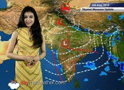 06 August, 2015 Monsoon Update: Skymet Weather