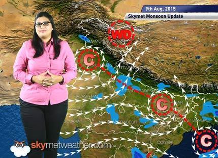 09 August, 2015 Monsoon Updates Skymet Weather
