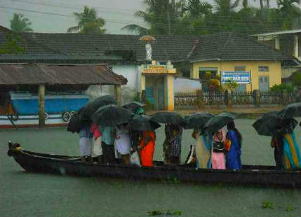 Rain in South India