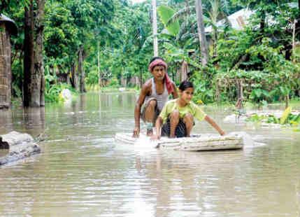 Three Digit Rainfall recorded over Northeast India, Jalpaiguri flooded