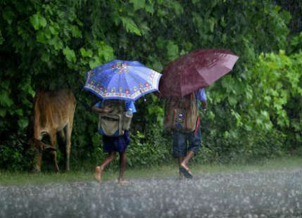 Three-digit rainfall observed over various parts of the country