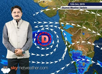 Weather Forecast for October 12, 2015 Skymet Weather HINDI