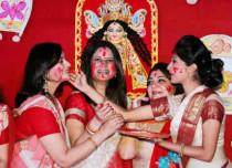 Rituals during Durga Puja