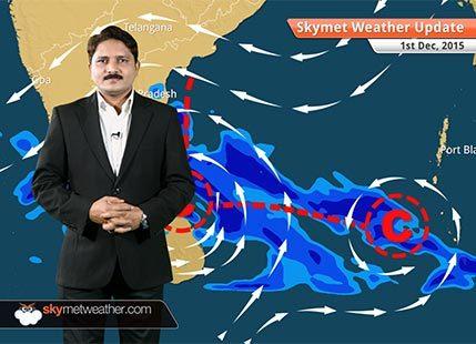 [HINDI] Weather Forecast for December 1: Heavy rain in Chennai, Tamil Nadu, Andhra Pradesh once again