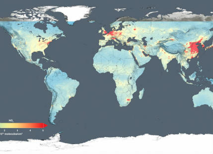 NASA Air Quality Map