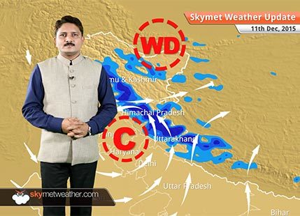 Weather Forecast for December 11: Snowfall over hills of North India and rain over northern plains