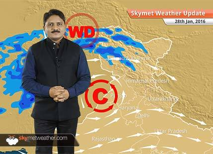 Weather Forecast for January 28: Rain activity will start over north Rajasthan and west Haryana