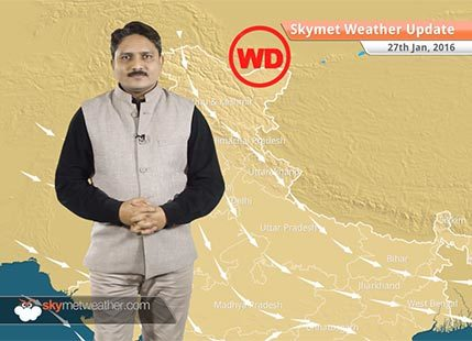 Weather Forecast for January 27: Fresh spell of light rain/snow expected over hills of north India