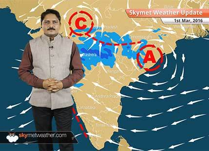 Weather Forecast for March 01: Rain activity will continue over central India