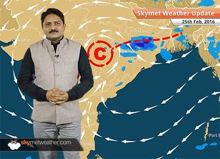 Weather Forecast for February 25: Good rain likely over Odisha, Chhattisgarh and West Bengal