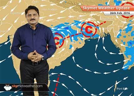 Weather Forecast for February 26: Rain in West Bengal, Odisha, Jharkhand