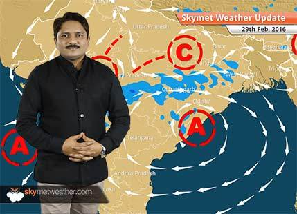Weather Forecast for February 29: Rain activity will continue over central India