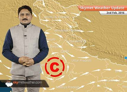 Weather Forecast for February 02: Light rainfall at few places over northeast states